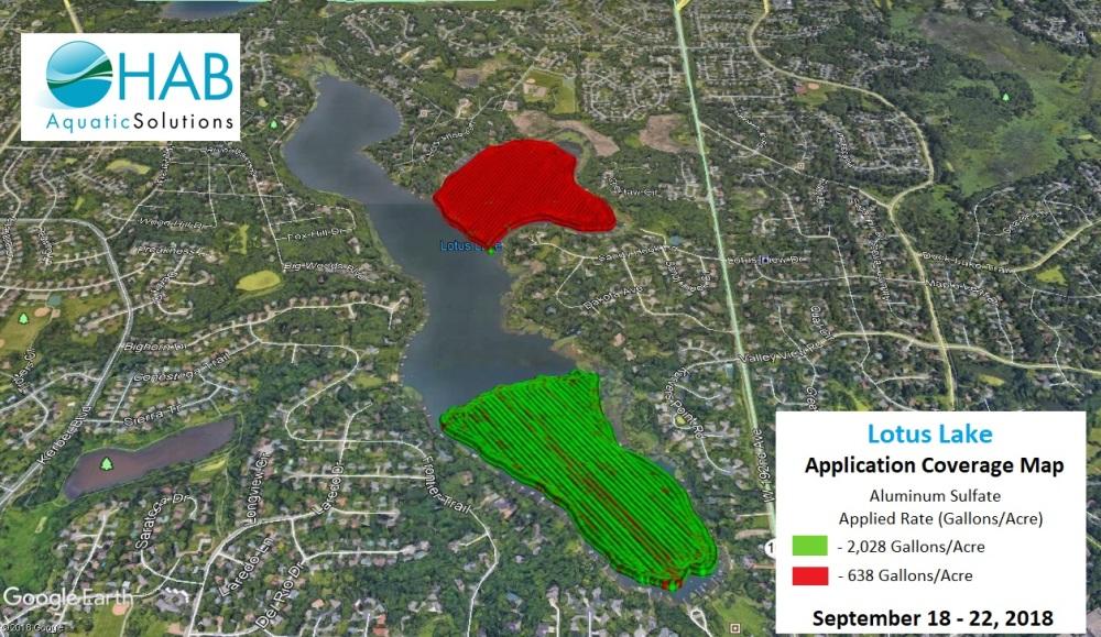 Lotus Lake application coverage map dual zone